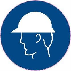 MAND PICTOGRAM HEAD PROTECTION