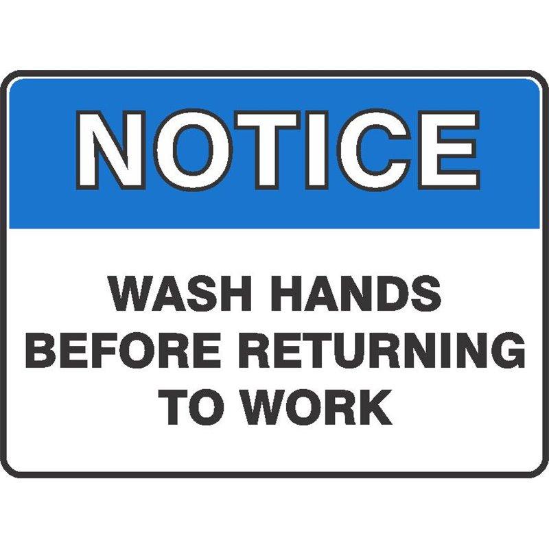 NOTICE WASH HANDS