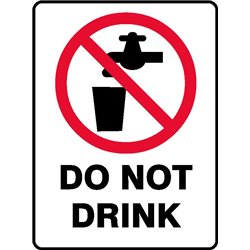 PROHIB DO NOT DRINK