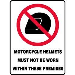 PROHIB MOTORCYCLE HELMETS