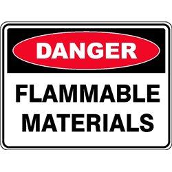 DANGER FLAMMABLE MATERIALS