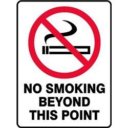 PROHIB NO SMOKING BEYOND