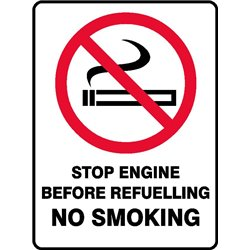PROHIB STOP ENG BEFORE REFUEL