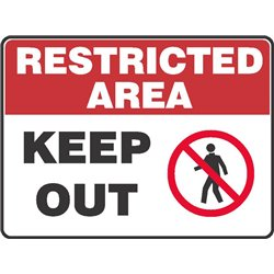 RESTRICTED KEEP OUT