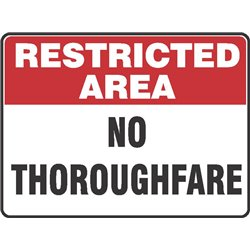 RESTRICTED  NO THOROUGHFARE