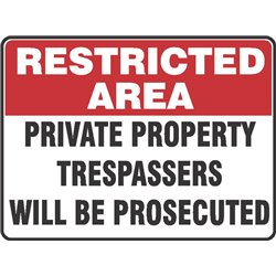 RESTRICTED PRIVATE PROPERTY