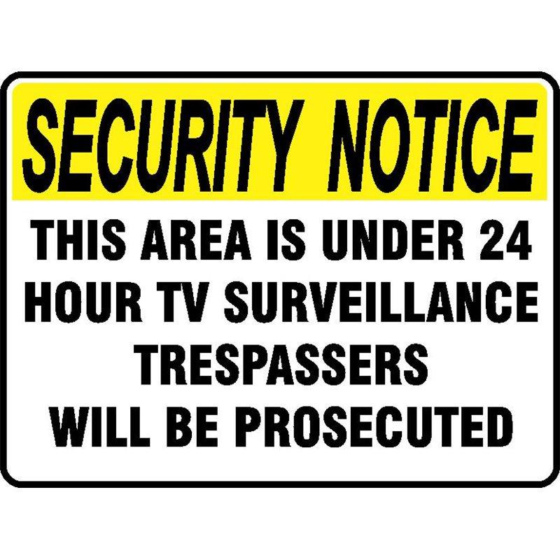 SEC NOT. 24HR TV SURVEILLANCE