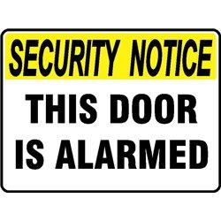 SEC NOTICE THIS DOOR ALARMED