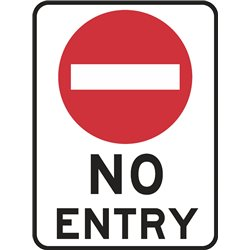TRAFFIC SIGN NO ENTRY