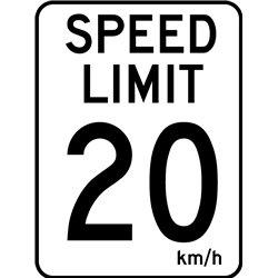 TRAFFIC SIGN SPEED LIMIT 20