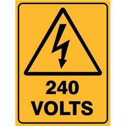 WARNING 240 VOLTS