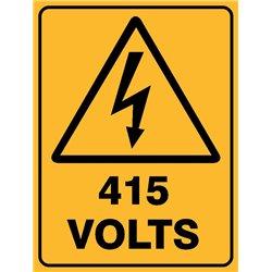 WARNING 415 VOLTS