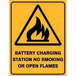 WARNING BATT CHARGING STATION