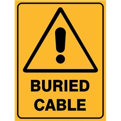 WARNING BURIED CABLE