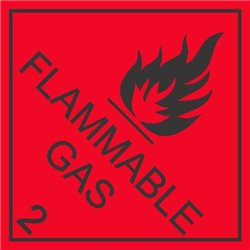 DANGEROUS GOODS FLAMMABLE GAS2