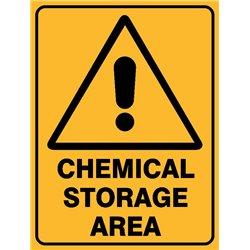 WARNING CHEMICAL STORAGE