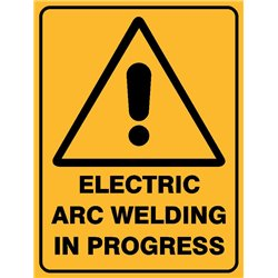 WARNING ELECT ARC WELD IN PROG