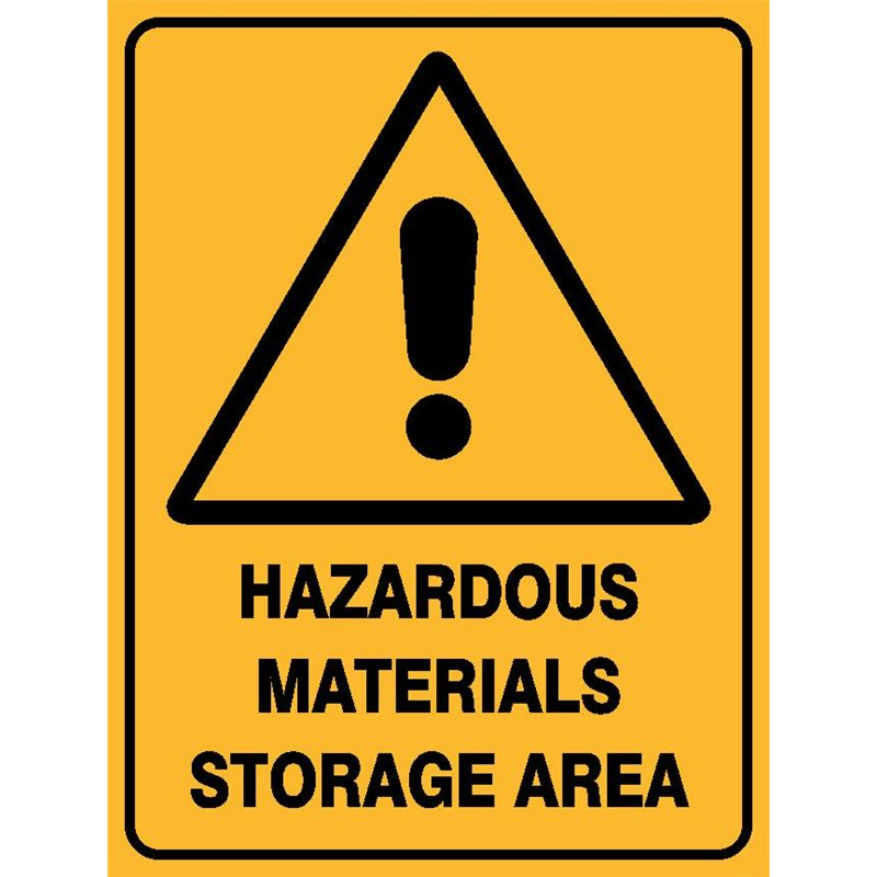 WARNING HAZ MAT STORAGE