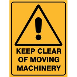 WARNING KEEP CLEAR MOVING MACH