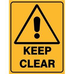 WARNING KEEP CLEAR