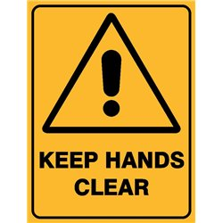 WARNING KEEP HANDS CLEAR