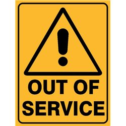 WARNING OUT OF SERVICE
