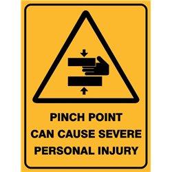 WARNING PINCH POINT