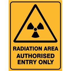 WARNING RADIATION AREA