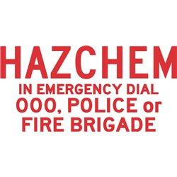DANGEROUS GOODS HAZCHEM SIGN