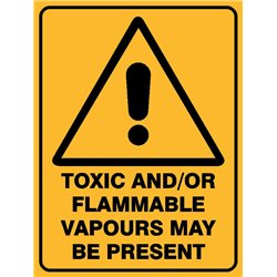 WARNING TOXIC AND FLAM VAPOURS