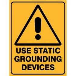 WARNING USE STATIC GROUNDING
