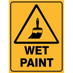 WARNING WET PAINT