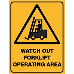 WARNING WATCH OUT FORKLIFT