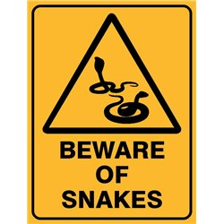 WARNING BEWARE OF SNAKES