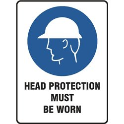 MANDATORY HEAD PROTECTION MUST BE WORN