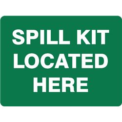 SPILL KIT LOCATED HERE