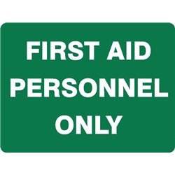 FIRST AID PERSONNEL ONLY