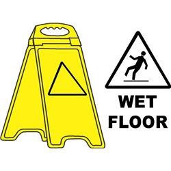YELLOW FLOOR STAND WET FLOOR