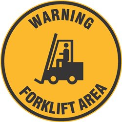 FLOOR GRAPHIC WARNING FORKLIFT AREA