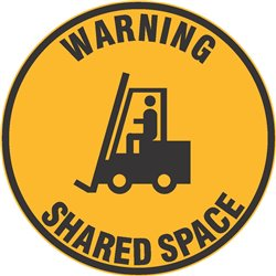 FLOOR GRAPHIC WARNING FORKLIFT SHARED SPACE
