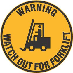 FLOOR GRAPHIC WARNING WATCH OUT FOR FORKLIFT