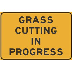 GRASS CUTTING IN PROGRESS