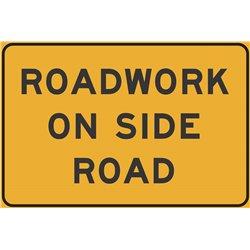 ROADWORK ON SIDE ROAD