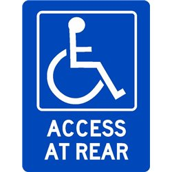 ACCESIBLE DISABLED ACCESS AT REAR