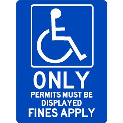 ACCESIBLE DISABLED PARKING PERMITS ONLY