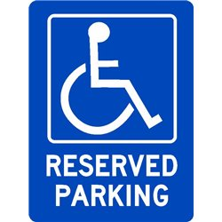 ACCESIBLE DISABLED RESERVED PARKING