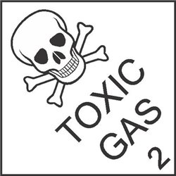 DANGEROUS GOODS TOXIC GAS 2