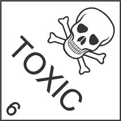 DANGEROUS GOODS TOXIC 6