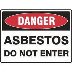 DANGER ASBESTOS DO NOT ENTER