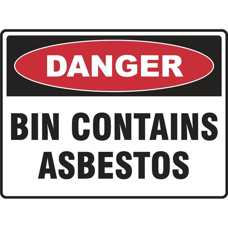 DANGER BIN CONTAINS ASBESTOS